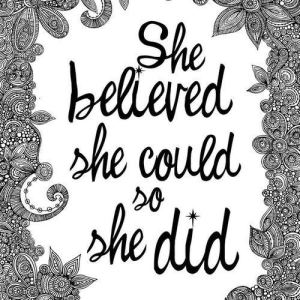 believed she could